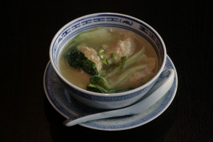 A2 Siu Kao Thong Shrimp dumpling in clear chicken broth.