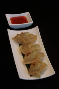 D2 Pangsit Goreng Indonesian fried pork dumplings.