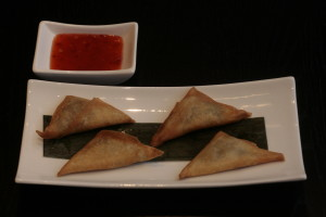 D5 Samosa Vegetarian curry samosa.