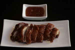 E3 Siu Ab Roast duck prepared to the classic recipe, served with plum sauce.