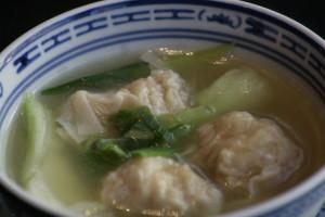 A1 Wan Ton Thong Pork dumplings in clear chicken broth