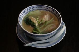 A2 Siu Kao Thong Shrimp dumpling in clear chicken broth.