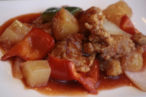 G2 Koe Low Yok Cantonese pork in sweet and sour sauce.