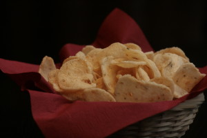 H2 Kerupuk Singkong Spicy cassava crackers.